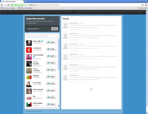 segui liberamente twitter
